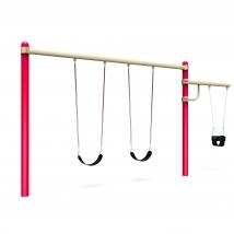 Balançoire à poteau unique avec section pour siège poupon