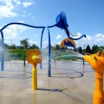 Les jeux d'eau au parc des Hautes-Sources sont maintenant ouverts