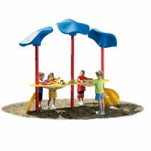 Table pour sable et eau avec toits