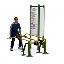 Exercices de flexion et d'extension des jambes avec charge