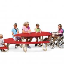 Table de pique-nique avec siège poupon