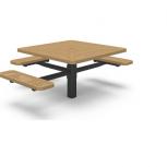 Table de pique-nique carrée accessible