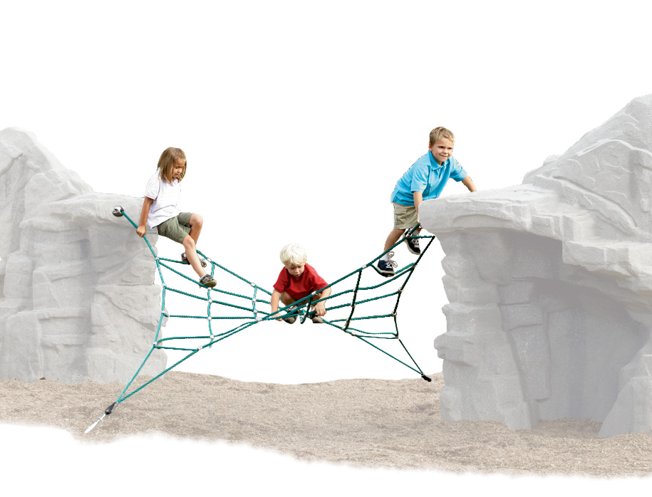 Rochers d'escalade et câbles
