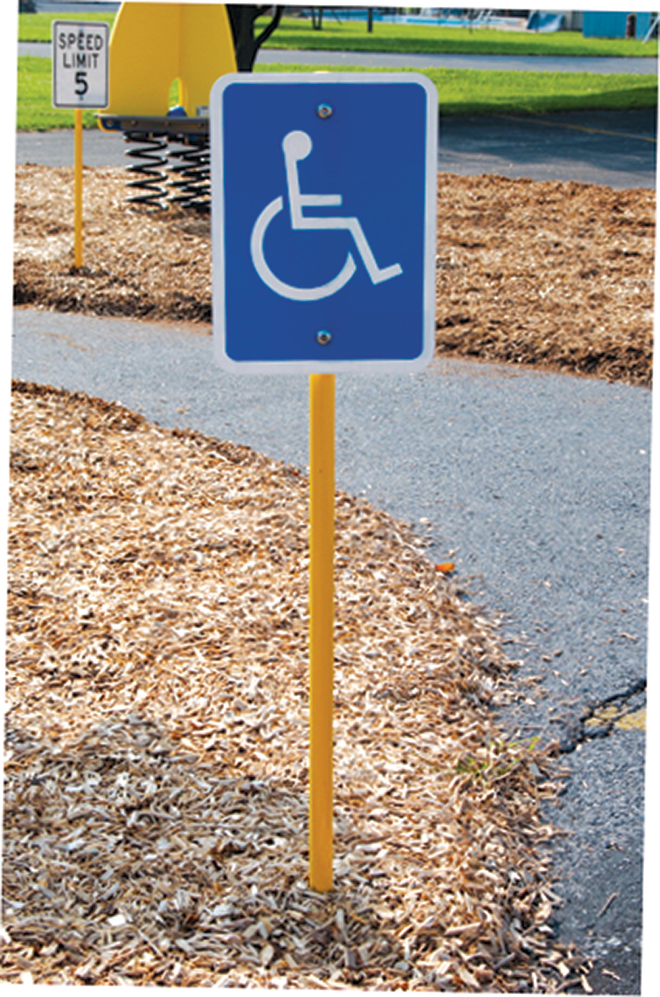 Panneau accès handicapé