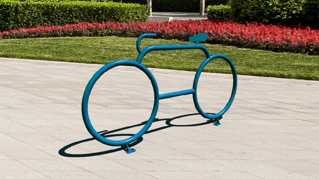 Support à vélo à silhouette de vélo