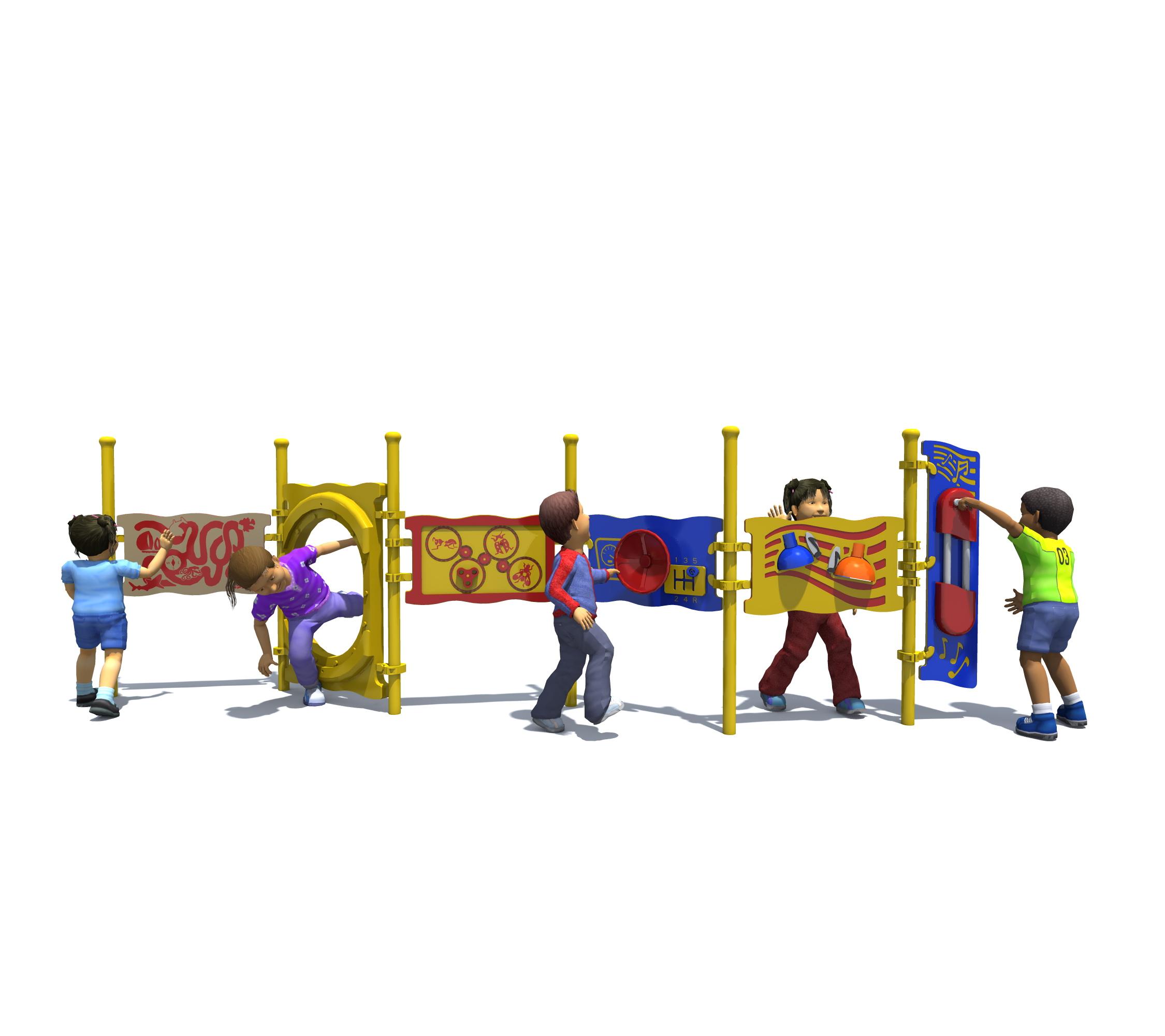 Ensemble de panneaux d'activités
